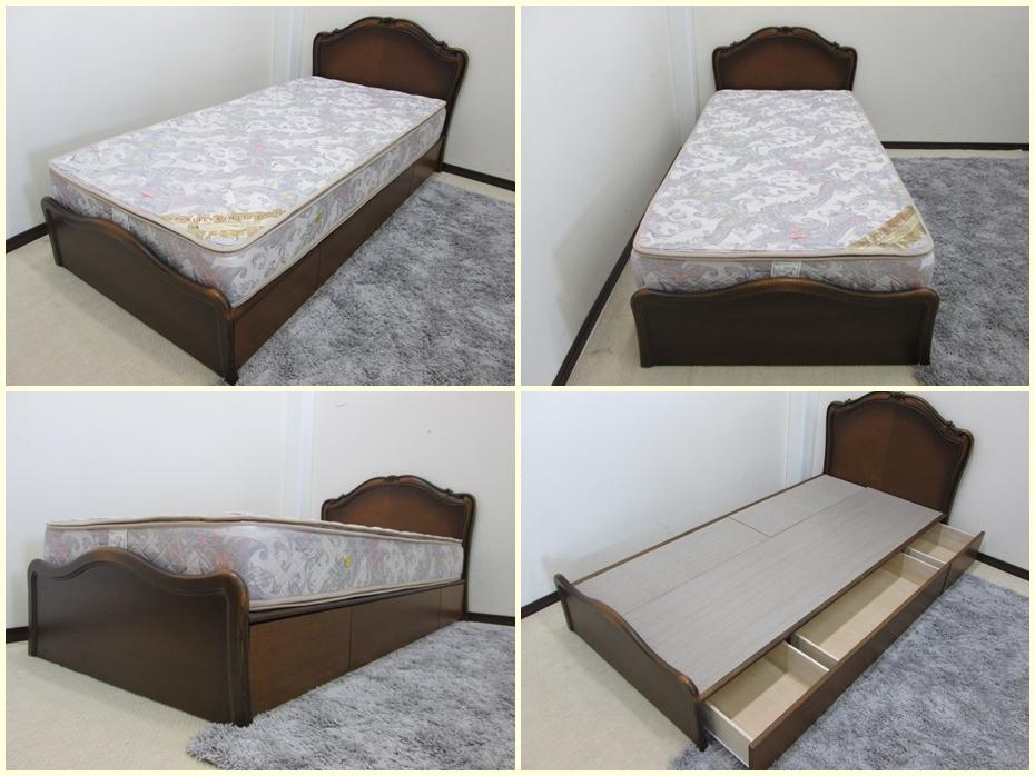 ピロートップマットレス  シングルベッド