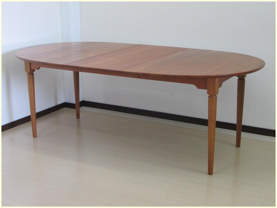 チェリー材 伸縮ダイニングテーブル