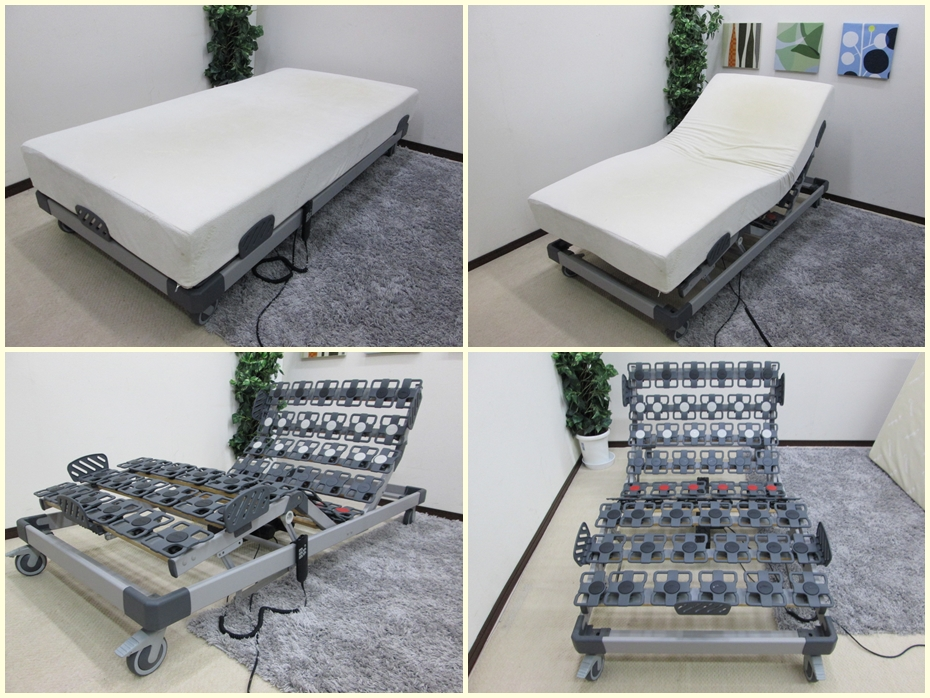 低反発マットレス  電動リクライニングシングルベッド